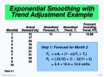 exponential smoothing with trend adjustment example32