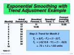 exponential smoothing with trend adjustment example33
