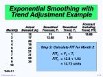 exponential smoothing with trend adjustment example34