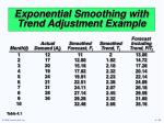 exponential smoothing with trend adjustment example35