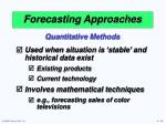 forecasting approaches10