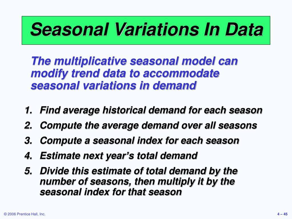 Seasonal Variations In Data