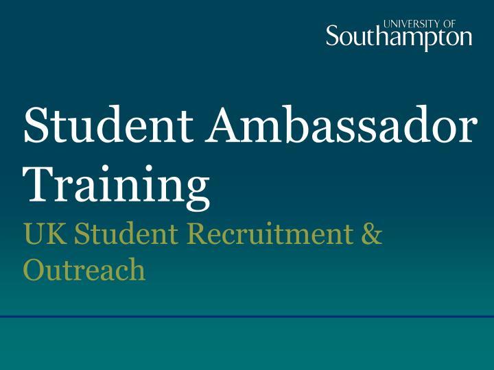 student ambassador training n.