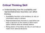 critical thinking skill