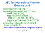 aec for hierarchical planning example cntd3
