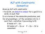 alp with constraints semantics