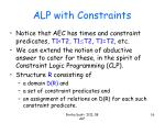 alp with constraints