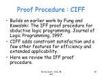 proof procedure ciff