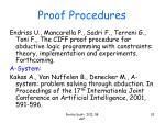 proof procedures