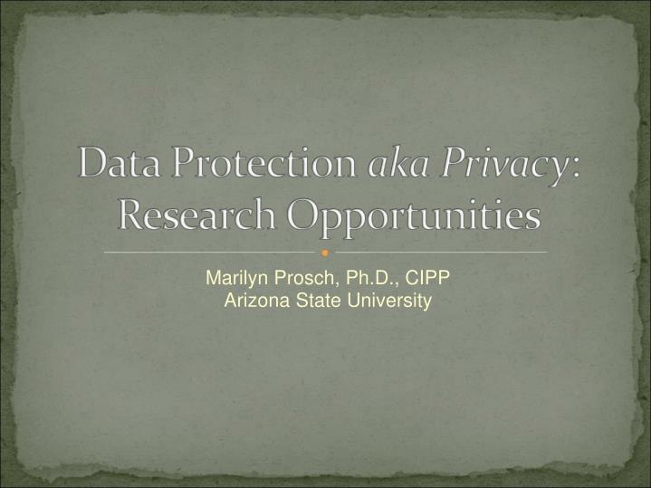 marilyn prosch ph d cipp arizona state university n.