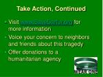 take action continued