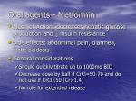 oral agents metformin