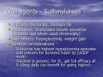 oral agents sulfonylureas