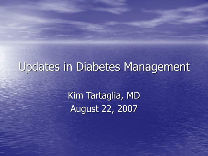 updates in diabetes management n.
