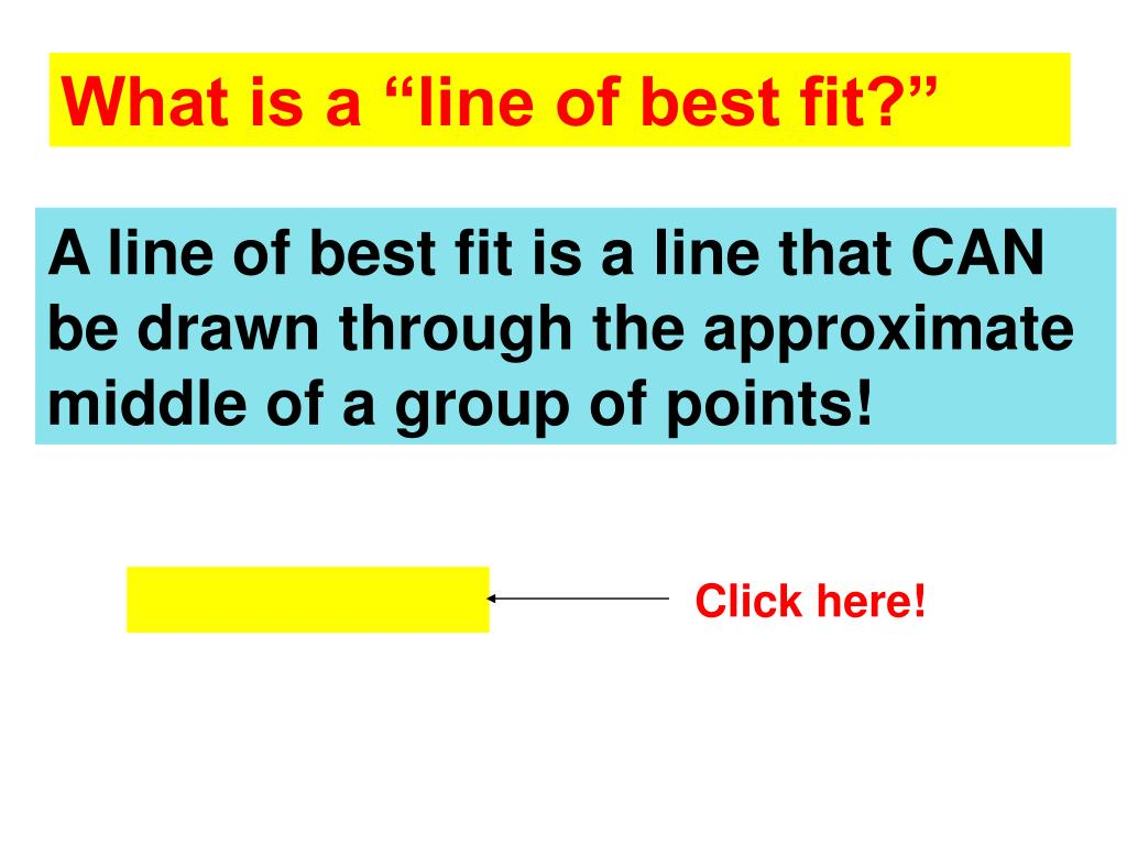 "What is a ""line of best fit?"""