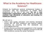 what is the academy for healthcare science
