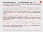economic environment policy developments in q1 fy11