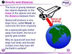 gravity and distance