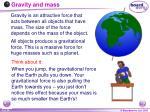 gravity and mass