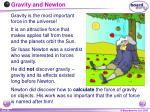 gravity and newton