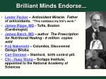 brilliant minds endorse