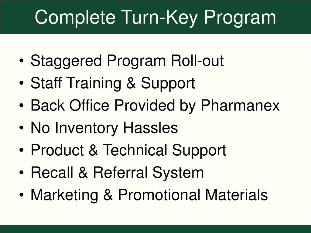 Staggered Program Roll-out