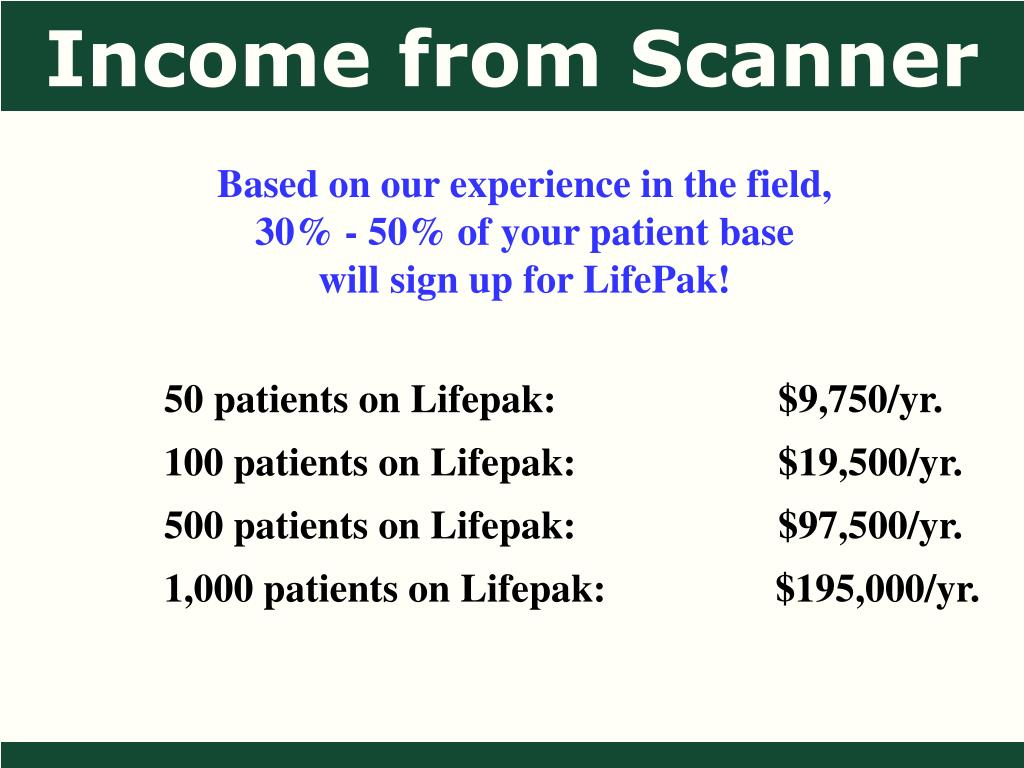Income from Scanner