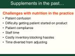 supplements in the past
