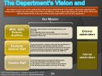the department s vision and mission