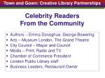 celebrity readers from the community