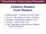 celebrity readers from western