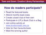 how do readers participate