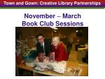 november march book club sessions