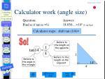 calculator work angle size
