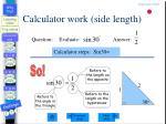 calculator work side length