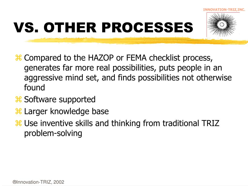 VS. OTHER PROCESSES