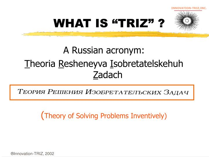 What is triz