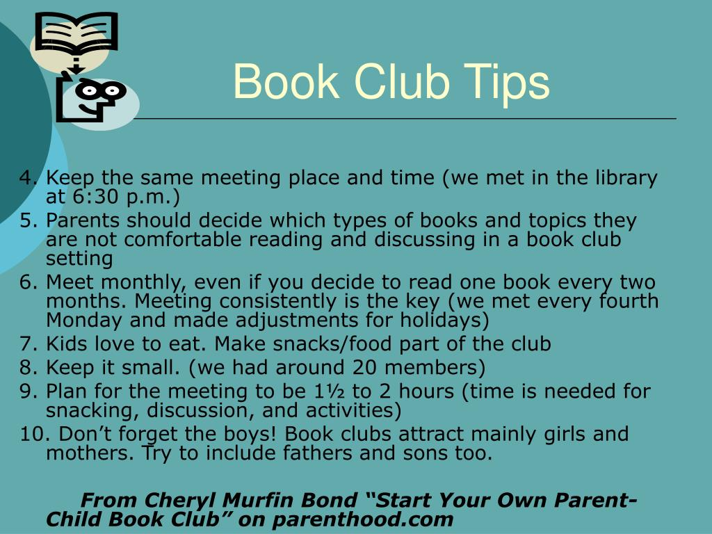 Book Club Tips
