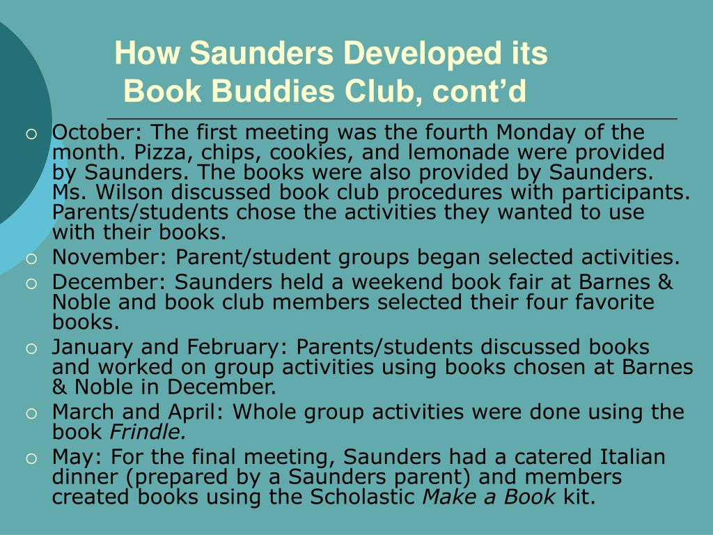 How Saunders Developed its