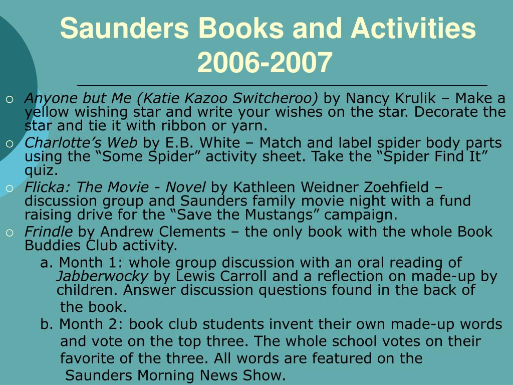 Saunders Books and Activities