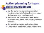 action planning for team skills development