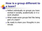 how is a group different to a team