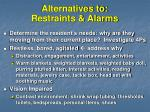 alternatives to restraints alarms