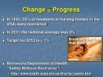 change progress