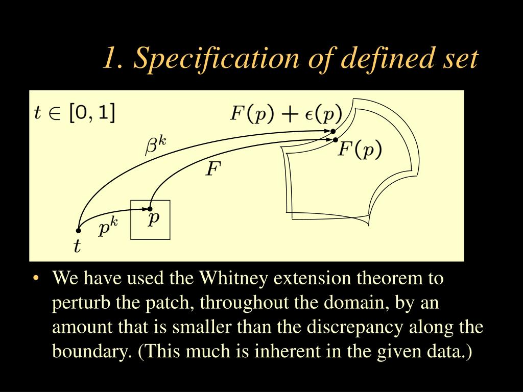 1. Specification of defined set