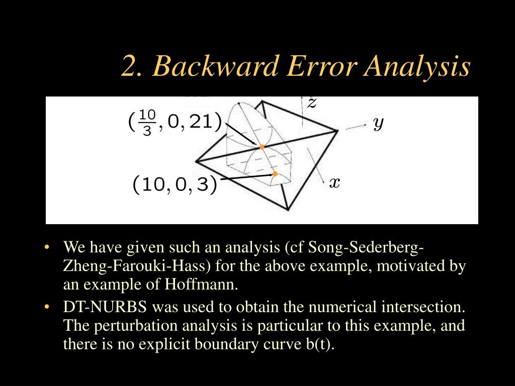 2. Backward Error Analysis