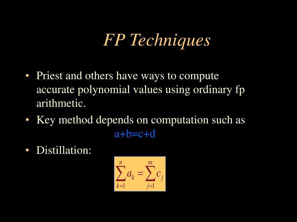 FP Techniques