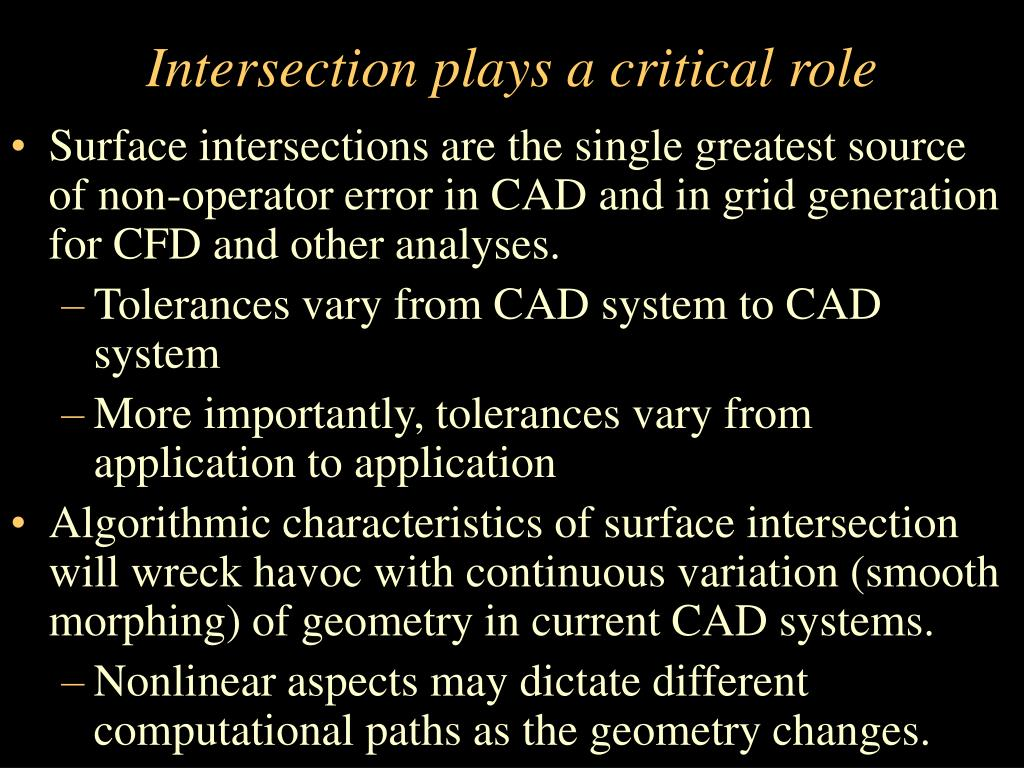 Intersection plays a critical role