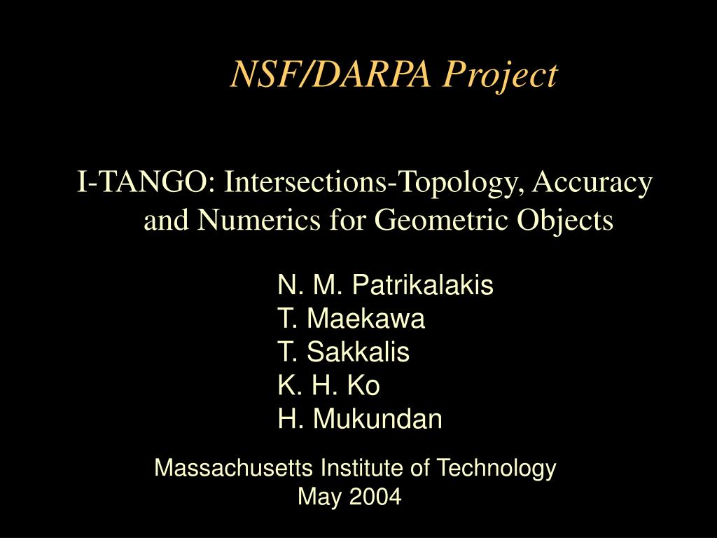 NSF/DARPA Project