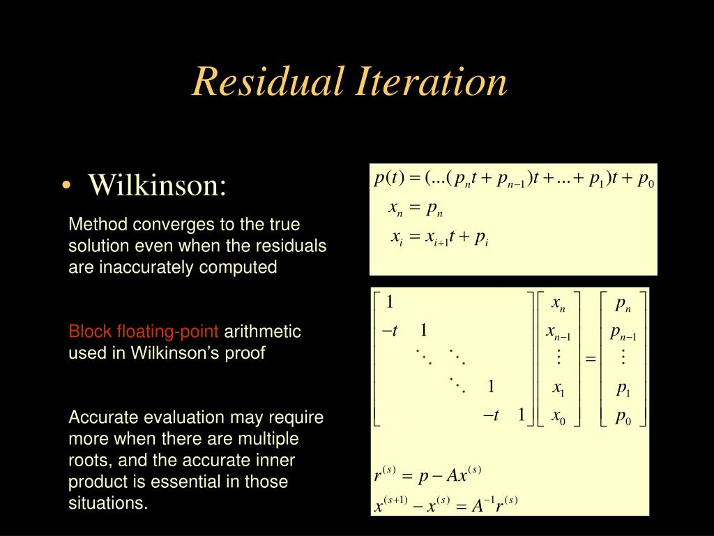 Residual Iteration